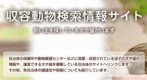 収容動物検索情報サイト
