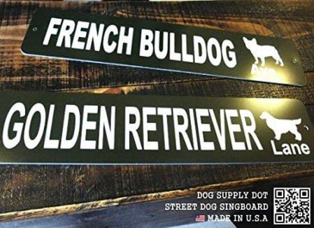 ストリートサイン GOLDEN RETRIEVER