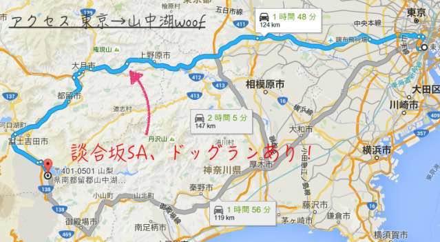 東京 山中湖 ワフ 行き方 ドッグラン