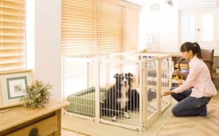 オールメッシュタイプ 大型犬 サークル