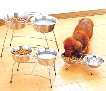 大型犬 食器スタンド