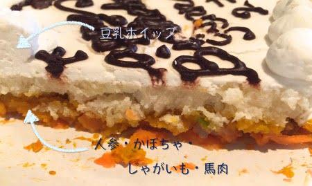 帝塚山ハウンドカム犬の誕生日ケーキ