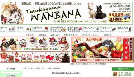 ワンバナ犬の誕生日ケーキ