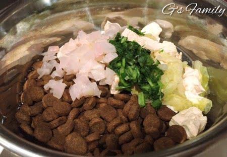 犬に七草粥で手作りごはん
