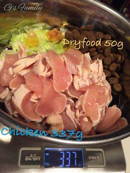 犬の生肉食