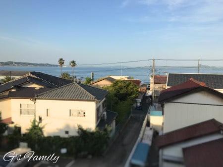 三浦海岸アレーナのスイートルームからの眺め