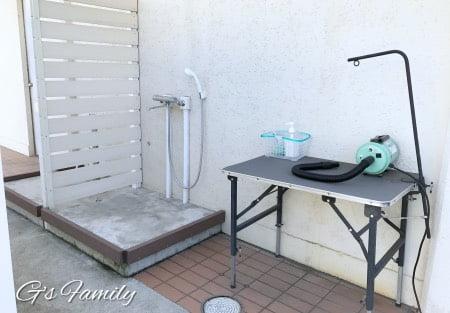 三浦海岸アレーナのドッグシャワー