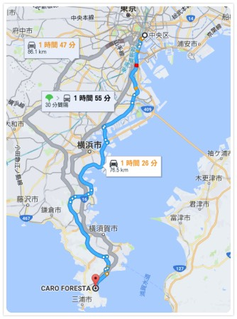 三浦海岸アレーナへのアクセス