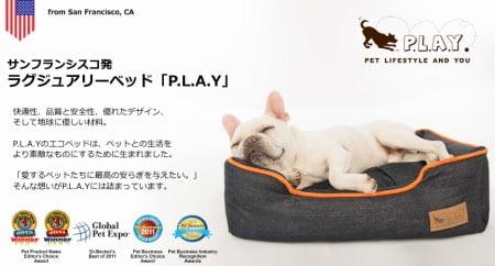 大型犬のplayベッド