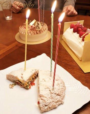 犬のお誕生日ケーキ
