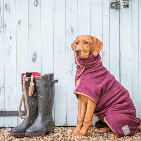 おしゃれな大型犬バスローブ
