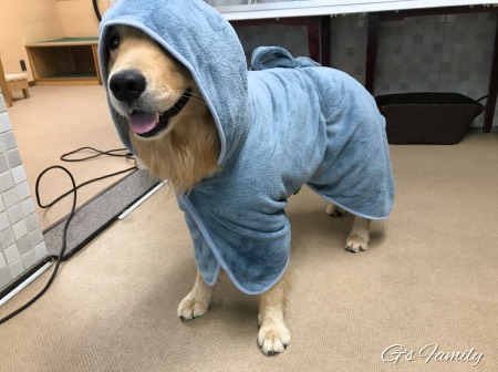 大型犬用バスローブ