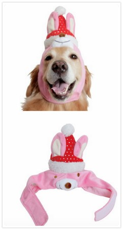 大型犬クリスマスのかぶりもの