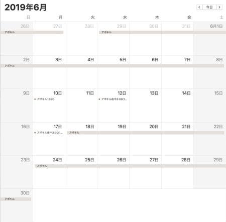 2019年6月アポキル錠と指間炎