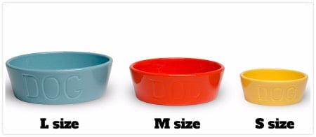 バウアーポッタリーの犬用食器3サイズ