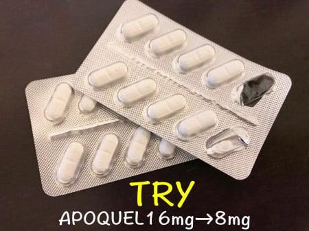 アポキル錠の減薬トライ