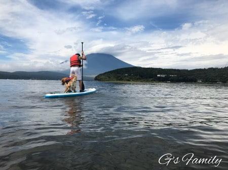 山中湖でセナとsup