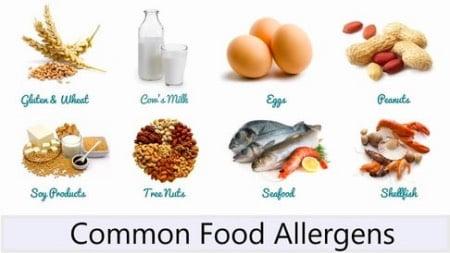 一般的に食物アレルギーになるといわれる食材