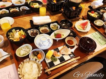 レジーナ箱根仙石原の部屋食(朝食)