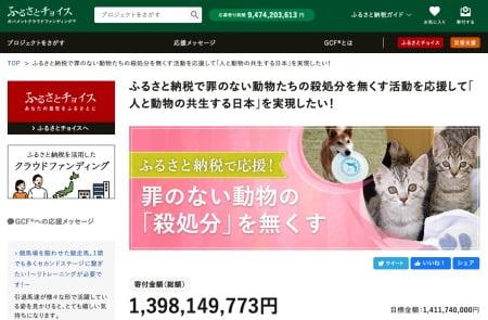 ガバメントクラウドファンディング犬猫の殺処分を減らす